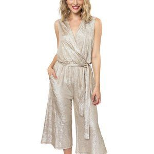 Julie Brown NYC Zoey Jumpsuit Gold Small